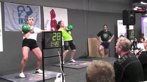 kettlebell competition sport female strong
