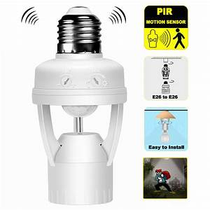 Luxon Infrared Motion Sensor Light Bulb E26  E27 Base