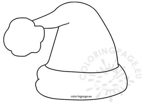 santa claus hat printable outline  crafts coloring page