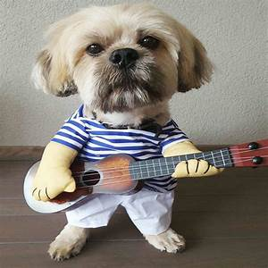 Funny Dog Costumes Guitar Player Pet Clothes Puppy Outfit ...
