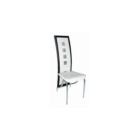 chaise noir et blanche lot de 6 chaises de salle à manger et bla achat