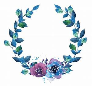 Watercolor Flower Wreath Transparent Background Pictures