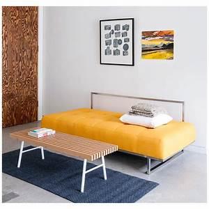 Furniture: Best Yellow Modern Sleeper Sofa For Elegant ...