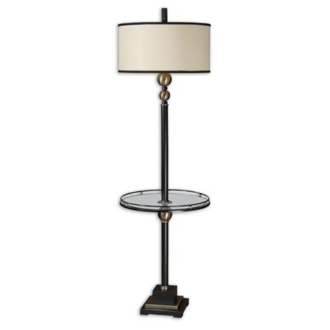 rustic floor l with table uttermost revolution end table floor l in rustic black