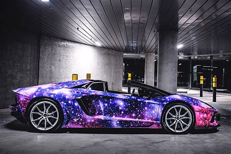 galaxy lamborghini this lamborghini aventador roadster galaxy is literally