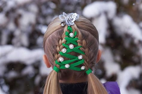 crazy christmas hairstyles  decorated ornaments