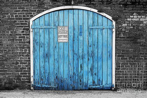 Colorful Blue Garage Door French Quarter New Orleans Color