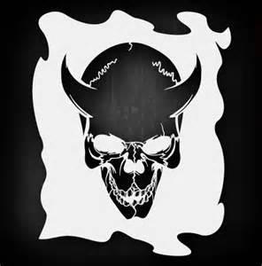 Skull Template Airbrush Stencil