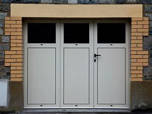 porte de garage battante en aluminium 3 vantaux ou 4 With porte de garage 3 vantaux