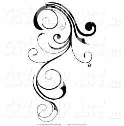 Black Swirl Designs Clip Art