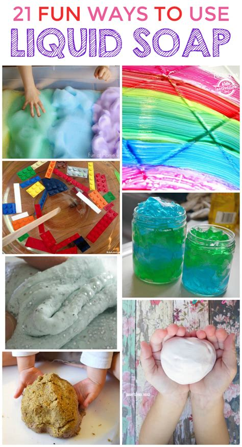 things to make for 20 cool things to make with liquid soap Diy