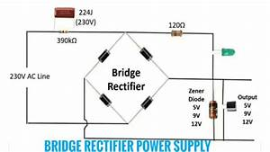 Circuit Diagram Of Mini Inverter  U0026 Bridge Rectifier Power