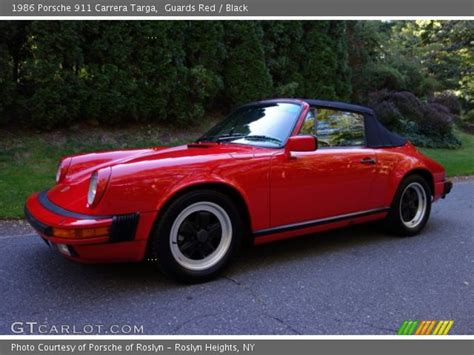 1986 porsche targa interior guards red 1986 porsche 911 carrera targa black