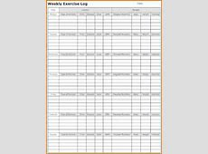 5 printable exercise log Divorce Document