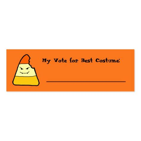 Cool Ballot Templates by Candy Corn Halloween Games Voting Card Double Sided Mini