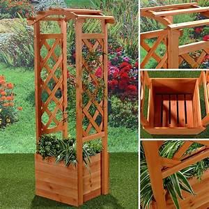 Garten Kiste Holz : rosenbogen inkl blumenk bel aus holz garten deko spalier ~ Whattoseeinmadrid.com Haus und Dekorationen
