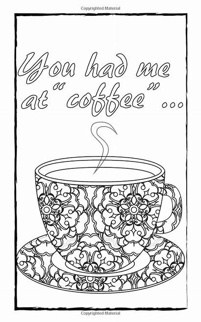 Coloring Adult Coffee Pages Sheets Books Travel