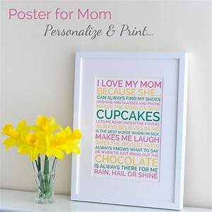 Create a gorgeous personalized Mother's day gift for your ...