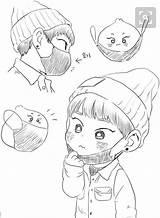 Bts Exo Fanart Xiumin Chibi Fan Kpop Anime Drawings Drawing Chanyeol Sketch Sketches Coloring Draw Kawaii Pop Dibujos Logos Baekhyun sketch template