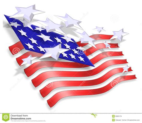 Stars And Stripes Patriotic Background Royalty Free Stock