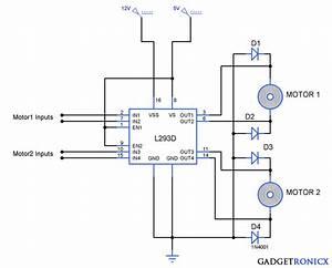 Bidirectional Motor Controller Circuit Using L293d