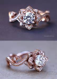 lotus flower wedding ring 15 stunning gold wedding engagement rings that melt your tulle chantilly wedding