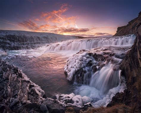Gullfoss Waterfall Backgrounds by Gullfoss Waterfall Iceland Author Daniel Korzhanov