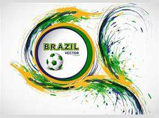 Splash Of Brazilian Flag Color With Soccer Download Free