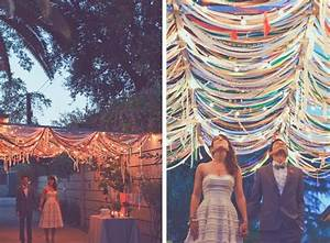 Streamer decorations this is so cool parrrrrrty for Ceiling streamers for a wedding