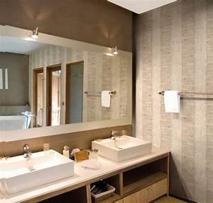 pic photo papier peint salle de bain zen pic de papier With papier peint salle de bain zen