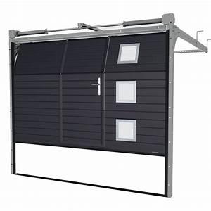 Porte de garage sectionnelle avec portillon la toulousaine for Porte de garage sectionnelle avec serrure porte