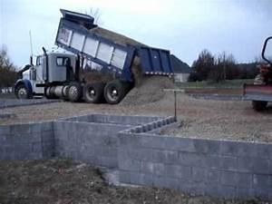 Foundation Building - Dump Truck Dumping Gravel our House ...