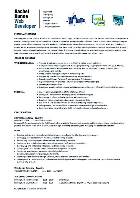 Resume Template Yahoo Answers by Web Developer Resume Exles Web Developer Resume Is