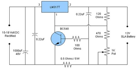 Lead Acid Battery Charger Circuit Diagram Home