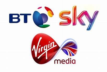 Sky Tv Bt Virgin Broadband Logos Limit