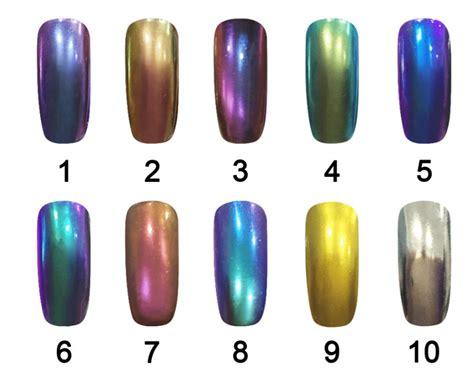 Chrome Nail Powder Chameleon Pigment With Metallic And