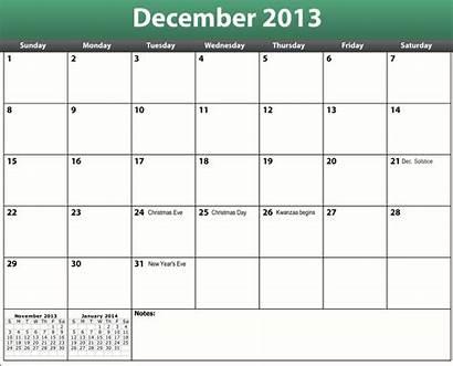 Calendar December Printable Pdf Template Documents Hq