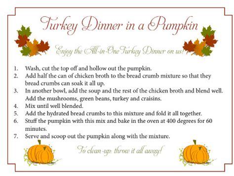 turkey dinner   pumpkin recipe  amazing gift idea