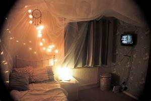Bed Bedroom Lights Pretty Room Image 188888 On