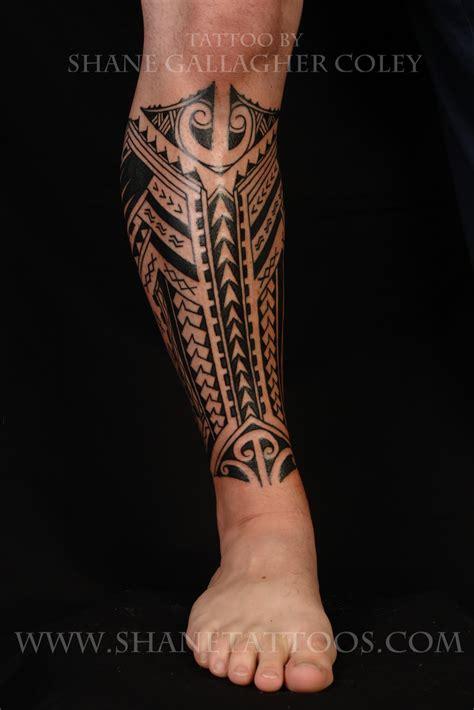 Shane Tattoos Polynesiansamoan Calf Tattoo