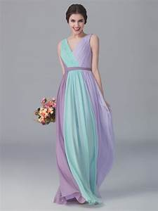 tri tone v neck dress color mint green color pastel With pastel color dress for wedding