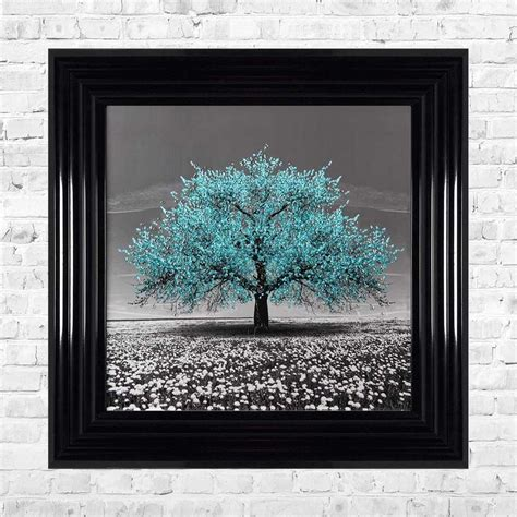 The best way to solve this problem is to plan the. TEAL CHERRY TREE FRAMED WALL ART BY SHH INTERIORS - 55CM X 55CM   1Wall