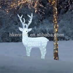 120cm led light up acrylic reindeer outdoor decoration buy white reindeer