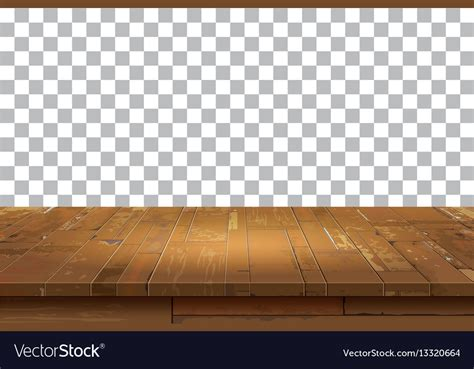 Top Vector Backgrounds by Empty Wooden Table Top Isolated Background Vector Image