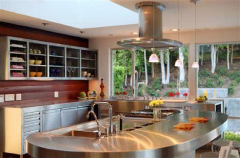 beautiful stainless steel kitchen island designs