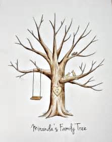 original baby shower tree guest book finger print by spottednest 50 00 family tree finger