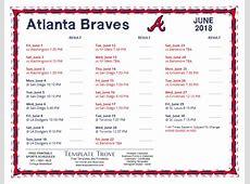 Printable 2018 Atlanta Braves Schedule