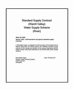 water supply agreement template emsecinfo With water supply agreement template