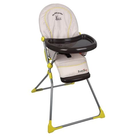 cdiscount chaise haute trottine chaise haute keppler garden gris et jaune