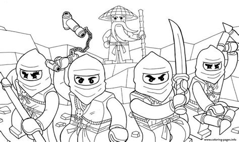 awesome ninjago se coloring pages printable